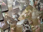 Vintage postcards — Stock Photo