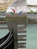 Gondola's fragment close up in Venice — ストック写真
