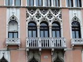 Traditional windows in Venice — Stock Photo