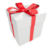 White gift box — Stockfoto