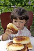 Grandmather's pies. — Stock Photo