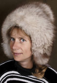 Fluffy fur cap. — Stock Photo