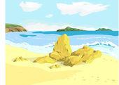 Deniz Körfezi — Stok Vektör