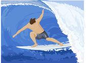 Surfer — Vector de stock
