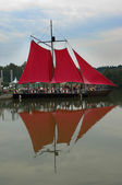 Scarlet sails for Assol — Stock Photo