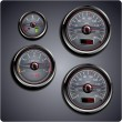 Stock Vector: Illustrated car gauges