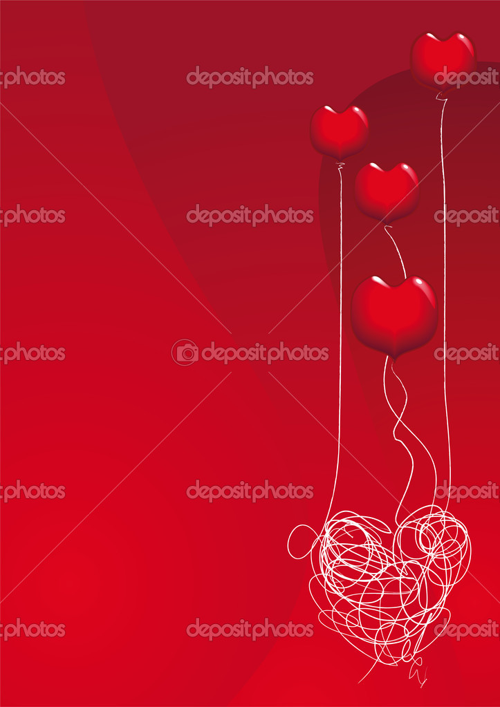 Vector background for valentine and other holidays or events. Resizable vector file to any size — Stock Vector #6684195
