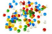 Multi-gekleurde office knoppen — Stockfoto
