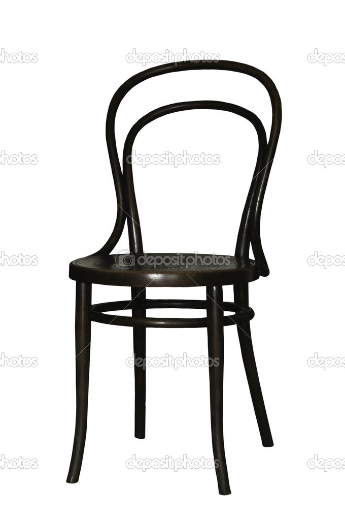 Chair wooden ancient on the white isolated background — Stock Photo #6724284