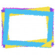 Vector colorful frame — Stock Vector