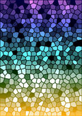 Vector colorful stained glass texture — Stock Vector