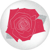 Vector round rose card — Stock Vector