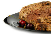 Roast beef meat with selective focus — Stock Photo