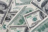 Dollar bills background — Stock Photo