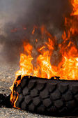 Tire fire — Stock Photo