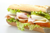 Sandwich with ham and vegetables — ストック写真