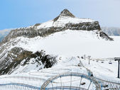Winter in the alps with an attraction included — Foto Stock