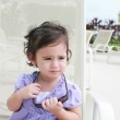 Cute toddler girl in summer clothes — Stock Photo #6580489