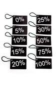 Verschillende codes met het percentage niveau — Stockfoto