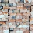 Piles of new bricks unused — Stock Photo #6308184