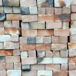 Piles of new bricks unused — Stock Photo
