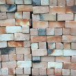 Piles of new bricks unused — Stock Photo #6308588