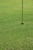 Flagstick on golf hole — Stock Photo
