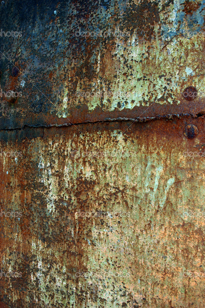 Texture rusty iron plate — Stock Photo #6314552