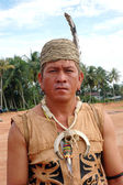 Portrait of male tribal kalimantan Indonesia — Stock Photo