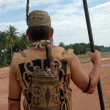 Backpacks tribal Borneo Indonesia — Stockfoto