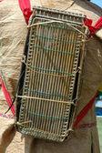 Backpacks tribal kalimantan Indonesia made of bamboo matting — Stock Photo
