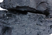 Detailed texture of the coal — Stock Photo