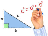 Right-angle triangle. — Stock Photo