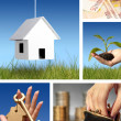 Royalty-Free Stock Photo: Invest in real estate. Business collage.
