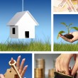 Invest in real estate. Business collage. - Stock Photo
