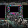 Stock Photo: Grunge background with frames
