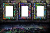 Grunge background with frames — Stock Photo