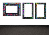 Frames on the wall — Stock Photo