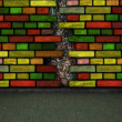 Colorful brick wall — Stock Photo #5553259