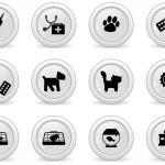 Grey buttons — Stock Vector #5382666