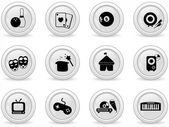 灰色のボタン — ストックベクタ