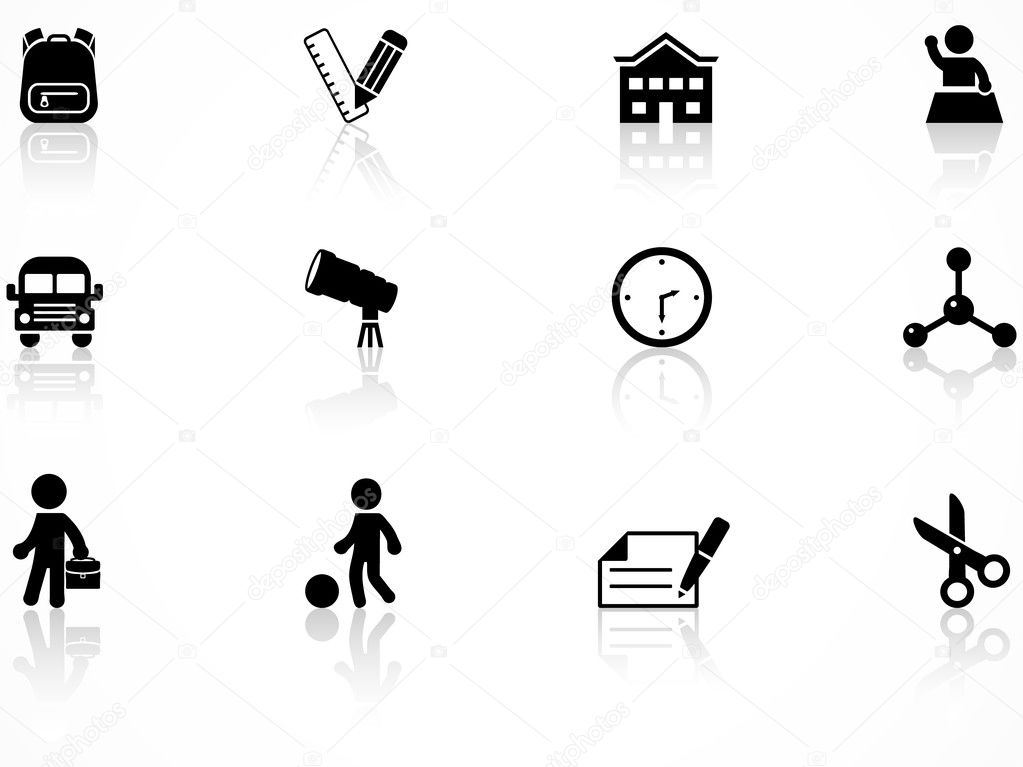 Set of Elementary school icons — Stock Vector #5382568