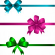 Collection of color bows 2 — Stock vektor