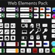 Web elements pack - Stok Vektör
