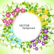 Abstract floral background — Stock Vector #5716111