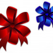 Red and blue bows - Stock Vector