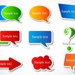 konuşma balonu renkli kağıt — Stok Vektör