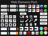 Web elements pack — Stock Vector