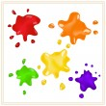 Ink splashes — Stock Vector
