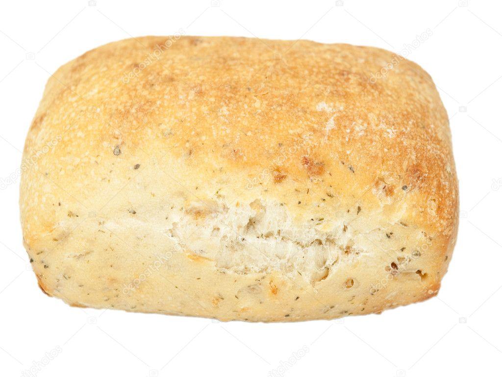 Fresh Italian Ciabatta bread on white — Stock Photo